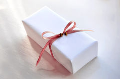 Luxurious White Gift Box Royalty Free Stock Photo