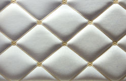Luxurious white leather walls Royalty Free Stock Photos