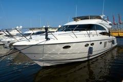 Luxurious white yacht Stock Image
