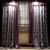 Luxurious window curtains Stock Image