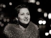 Luxurious woman portrait Stock Photography