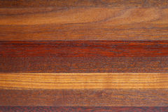 Luxurious wood. Striped  background of different kinds of wood Stock Photos