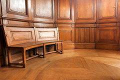 Luxurious wooden room Royalty Free Stock Image