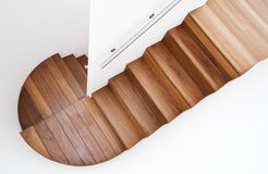 Luxurious wooden staircase Stock Photos