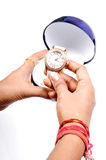 Luxurious wrist watch Stock Photo