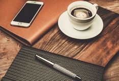 Luxurious writing tools Royalty Free Stock Image