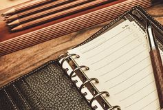 Luxurious writing tools. Luxurious rollerball pen and empty to do list Royalty Free Stock Images