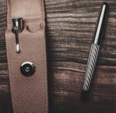Luxurious writing tools Stock Photo