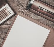 Luxurious writing tools Stock Images