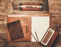 Luxurious writing tools Royalty Free Stock Photography