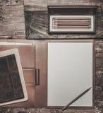 Luxurious writing tools Stock Image