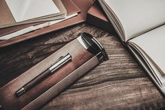 Luxurious writing tools Stock Photography