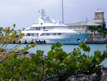Luxurious yacht stock image