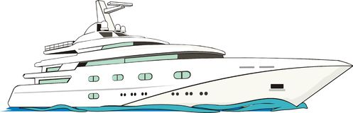 Luxurious yacht vector illustration
