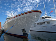 Luxurious Yacht. Moored at a marina ready for next sailing Royalty Free Stock Image