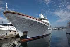 Luxurious Yacht. Moored at a marina ready for next sailing Royalty Free Stock Images