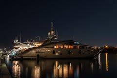 Luxurious Yacht Illuminated Royalty Free Stock Photos