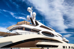 Luxurious yacht Stock Photography