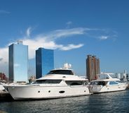 Luxurious Yachts Royalty Free Stock Photos
