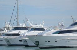 Luxurious Yachts Stock Photos