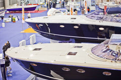 Luxurious Yachts - Big Blue Sea Expo, Rome, 2011 Royalty Free Stock Photos