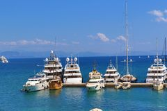 Luxurious yachts Royalty Free Stock Image