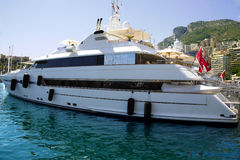 Luxurious yachts in port of Monaco Royalty Free Stock Image