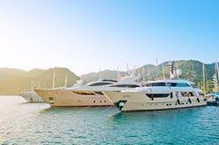 Luxuriously barche Fotografia Stock