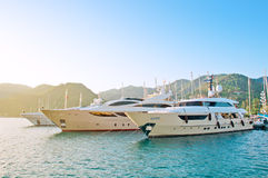 Luxuriously boats Stock Photo