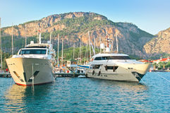 Luxuriously boats Royalty Free Stock Images