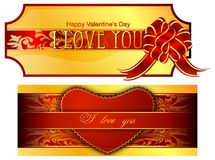 The luxuriously decorated with Valentine. (Vector) Stock Photography