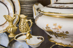 Luxurous dining tableware  set Royalty Free Stock Photo
