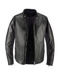 Luxuru Black Leather jacket isolated Royalty Free Stock Images