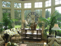 Luxury 32 sun room Royalty Free Stock Photos