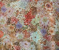 Luxury abstract floral background, decorative wall Stock Photos