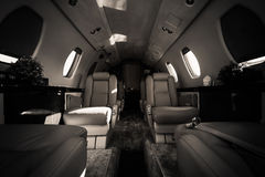 Luxury aircraft interior Royalty Free Stock Images