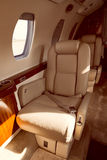Luxury aircraft interior Royalty Free Stock Photography