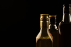 Luxury alcoholic drinks on dark background Stock Image