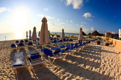 A luxury all inclusive beach resort at morning Royalty Free Stock Photo
