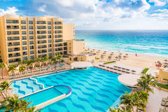 Luxury all-inclusive  The Royal Sands resort with  beautiful bea Stock Images
