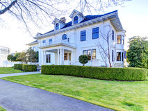 Luxury american house with curb appeal. Luxury american house with column porch and curb appeal Royalty Free Stock Photography