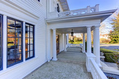 Luxury american house entrance porch Stock Images