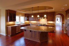 Luxury American House Interior no.4. Trendy kitchen in a Modern American House Royalty Free Stock Images