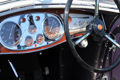 Luxury antique italian car interior detail Royalty Free Stock Images