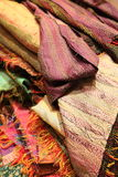 Luxury antique silk textiles Royalty Free Stock Images
