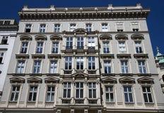 Luxury apartment. Exterior of a luxury apartment facade in Vienna, Austria Stock Photos