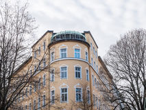Luxury Apartment Building with Bare Trees Stock Image