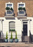 Luxury Apartment Building in London. Typical Apartments Building at West-London, Kensington and Chelsea Royalty Free Stock Images