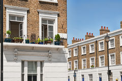 Luxury Apartment Building in London. Typical Apartments Building at West-London, Kensington and Chelsea Royalty Free Stock Image