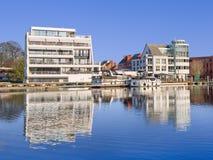 Luxury apartment building on The Nieuwe Kaai, Turnhout, Belgium Royalty Free Stock Photography